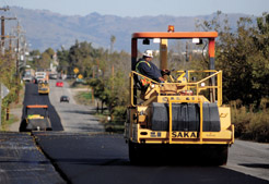 Southside Road being paved
