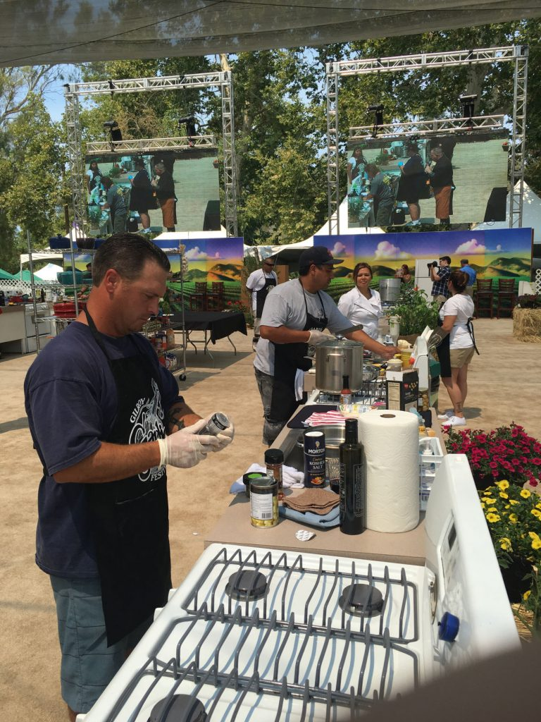 Hollister fire crews take part in Garlic Fest charity cook-off