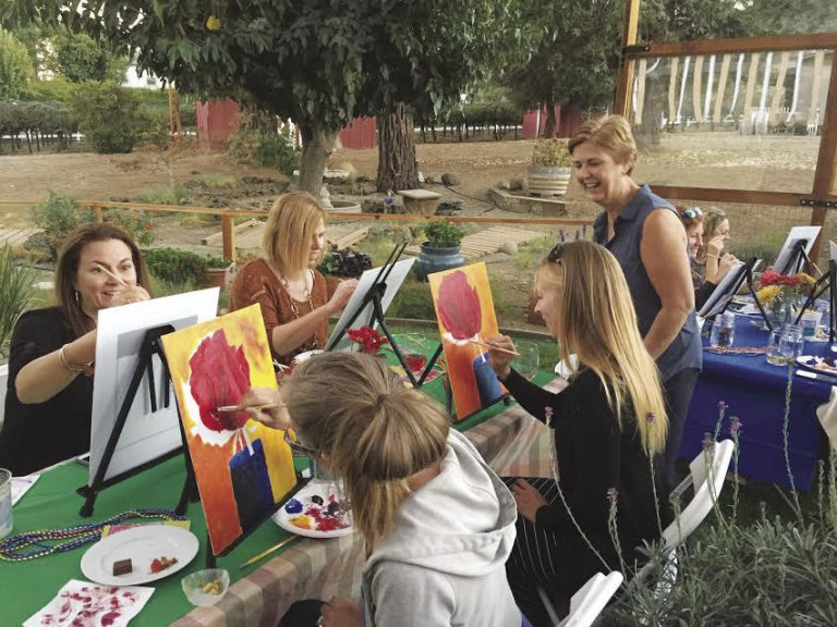 Wine and painting at Seeker Vineyard