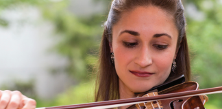 HOMECOMING Violinist and Morgan Hill native Kimia Ghaderi appears with two other classical musicians in 'Apex Piano Trio' on Sunday, June 18 at Morgan Hill Presbyterian Church. Photo: Alex Cooke